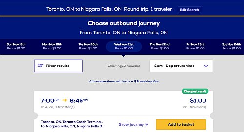 $1 Megabus tickets from Toronto to New York City, Washington