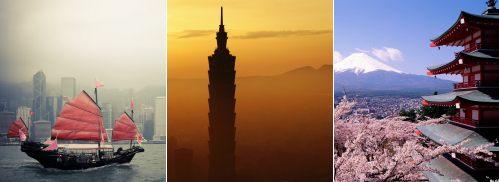 Hong Kong to Taipei, Taiwan to Tokyo, Japan