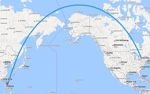 Toronto to Manila, Philippines