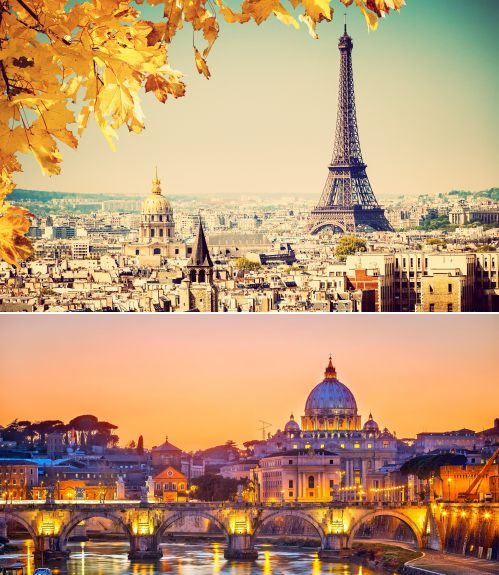 Paris and Rome