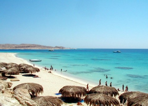 The beach at Hurghada, Egypt