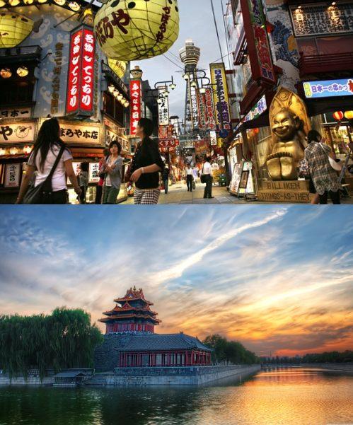 Osaka, Japan and Beijing, China