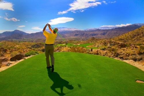 Golfing in Palm Springs, California