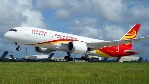The Boeing 787 Dreamliner run by Hainan Airlines from Toronto to Beijing